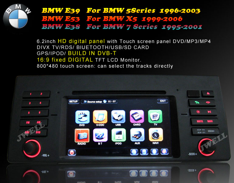 car dvd with gps special bmw e39 e53 e38 j well. Black Bedroom Furniture Sets. Home Design Ideas