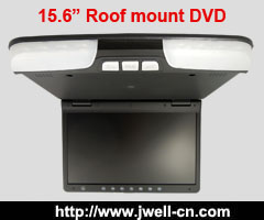 15.6 Inch Flip Down Car Monitor/Roof Mount Car Monitor with Built-in DVD Player