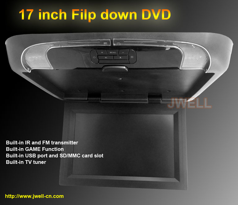 17 Inch Car Lcd Monitor With Dvd Player For Bus Roof Mount