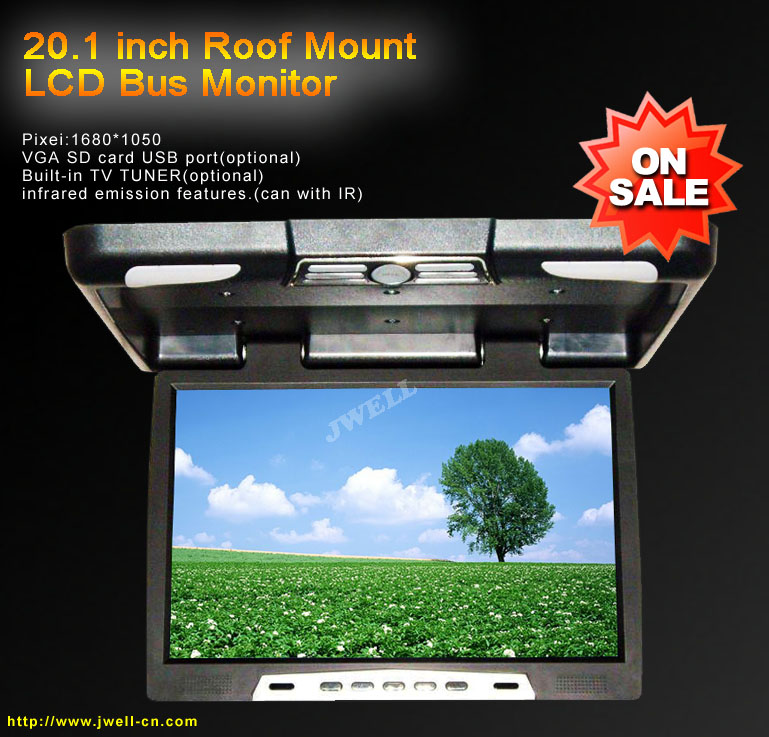 20 1 Inch Roof Mount Lcd Bus Monitor J Well Industrial Co