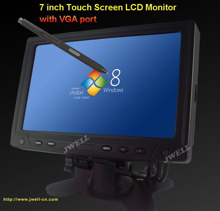 7 Inch Touch Screen LCD Monitor With VGA Port J Well Industrial Co Ltd