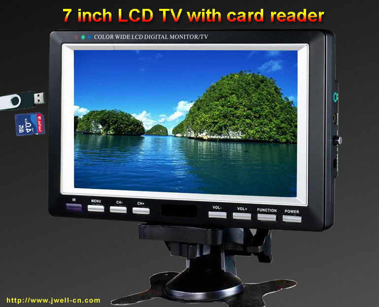 7 Inch Portable LCD TV With FMUSBSD